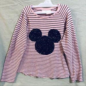 Disney Zara Girls Pink Sweater with Mickey Ears
